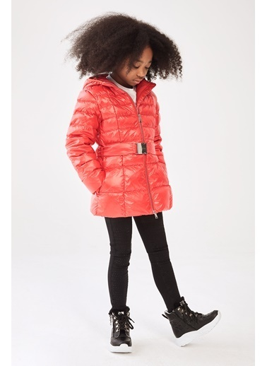 Guess Kız Çocuk Kırmızı Mont Kırmızı